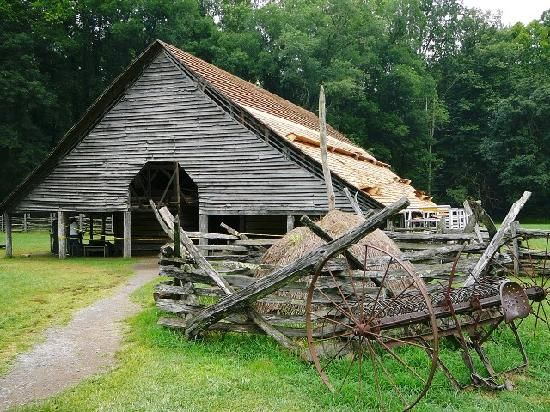 Pioneer Week: Mini-trip to Cherokee, NC: Mountain farm museum, circa mid-1800's settler life.