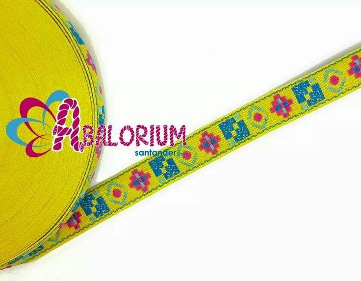 Cinta étnica de 15mm. Www.abaloriumsantander.com