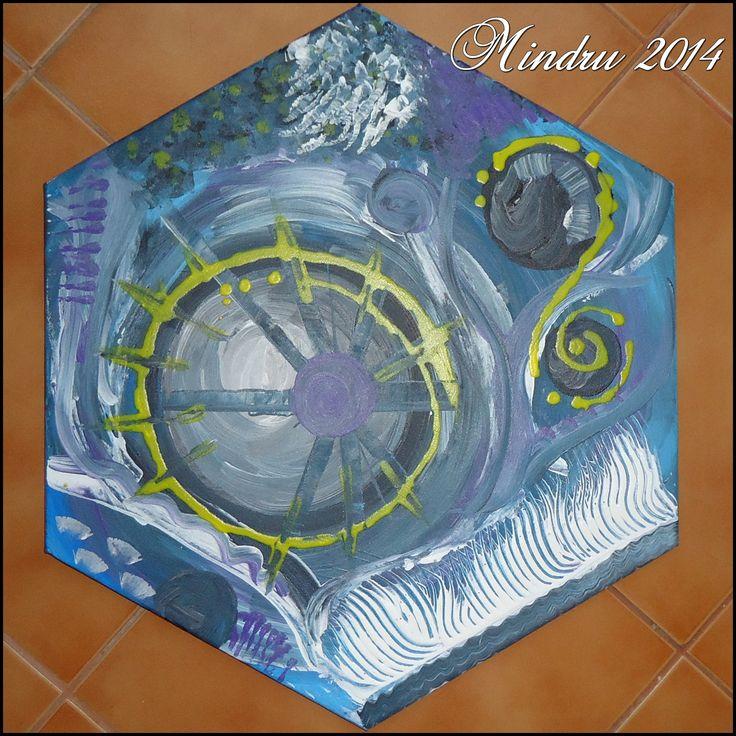 STELLAR STORM - Acrylics on canvas