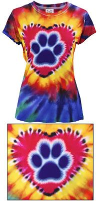 Paw Print Tie Dye Tee at The Animal Rescue Site