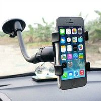 Wish | Universal Car Mount for Smartphones, GPS, Premium Windshield Dashboard Car Mount Holder for All Kinds of Smart Phone CC