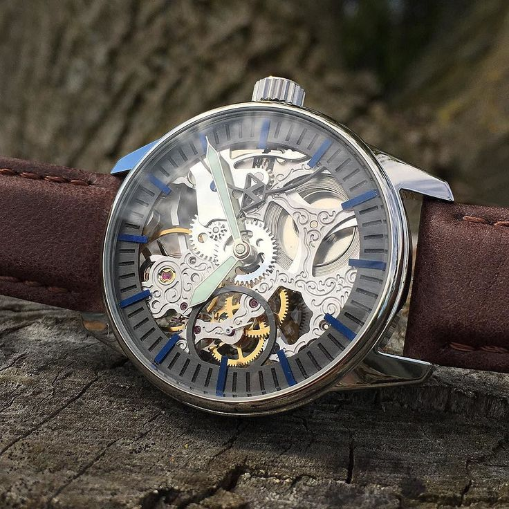 In-Stock: The Demarcated Skeleton with anodized niobium markers. This watch also has a Swiss ETA 6497-1 skeleton movement.  Come on out to see this watch and many many others this May long weekend at the Distillery District Toronto for the @artfesttoronto .