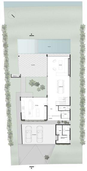 Ground Floor Plan, Modern House in Buenos Aires, Argentina