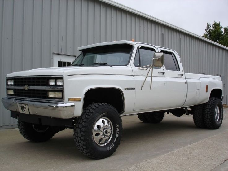 1989 Chevrolet Silverado 1 Ton, 4x4. Crew Cab dually, 111,000 miles, auto, Everything works and truck drives great. Great looking rust free western truck! Truck will be sold as-is, and buyer is responsible for transport.