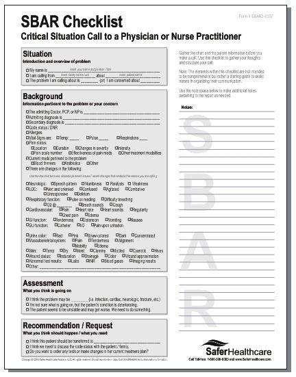 sbar nurse to nurse report - Google Search   Nursing ...