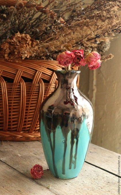 Ceramic vase / Вазы ручной работы. Керамическая ваза. Viktory-decor (ceramics). Интернет-магазин Ярмарка Мастеров. Бронзовый, подарок девушке
