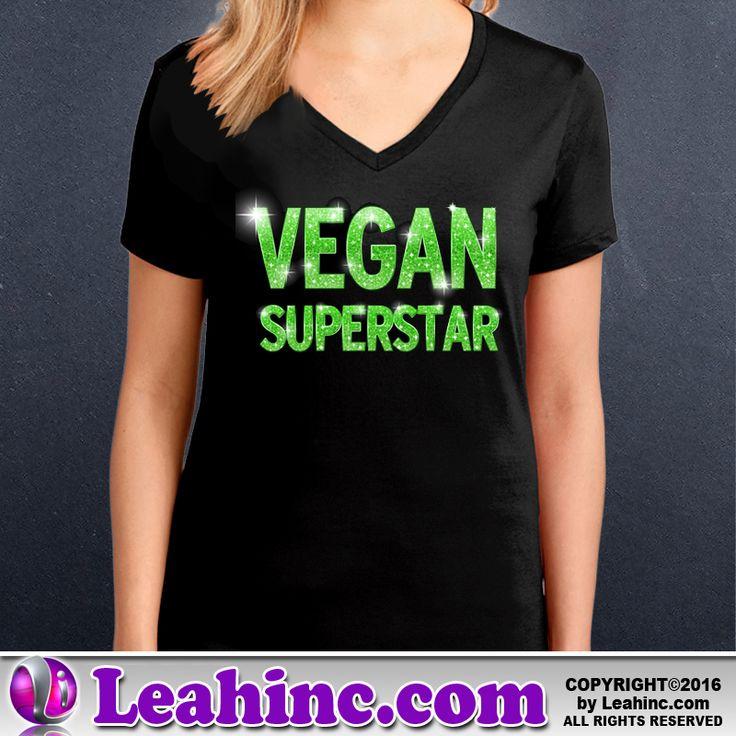 Vegan, Vegetarian, Causes, Men's, Ladies, Shirts, Tees, Vegan Superstar