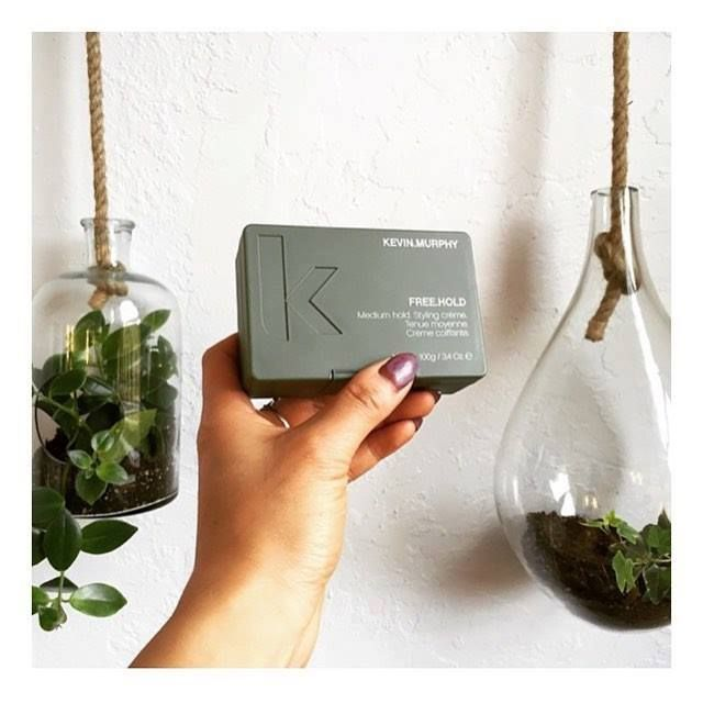 KEVIN MURPHY FREE.HOLD is a flexible hold styling crème perfect for the man or woman who likes to wear their hair loose and tousled.  Only available locally from Misty DeLeon #hairstylistbillingsmt #hairextensionsbillingsmt #promupdosbillingsmt #weddingupdosbillingsmt