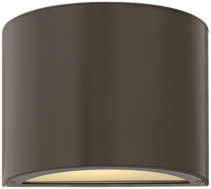 Hinkley Luna Bronze with Glass Up-Down Outdoor Wall Light -