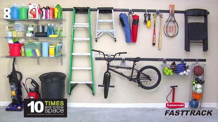 Rubrmaid Fast Track Garage System