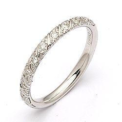 Diamant ring in 14 karaat witgoud 0,154 ct