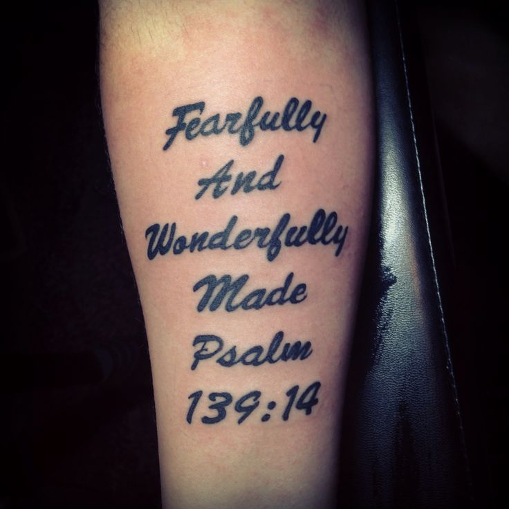 Bible Quote Tattoos: Bible Verse Tattoo Psalm 139:14
