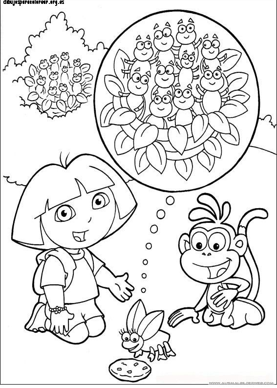 Dora and friends coloring pages nick ~ 67 best images about Nick Jr. Coloring Pages on Pinterest