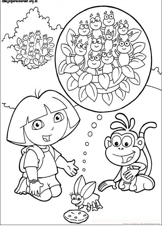 dora happy birthday coloring pages - photo#30