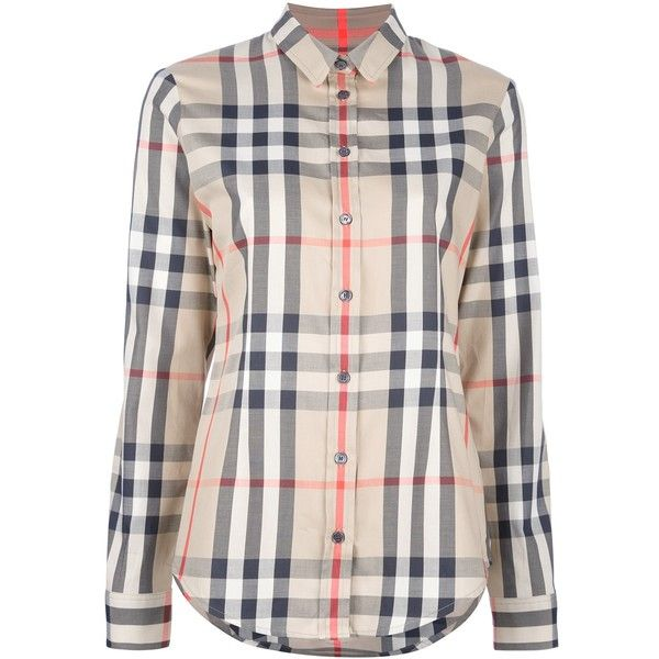 BURBERRY classic check shirt ($345) ❤ liked on Polyvore