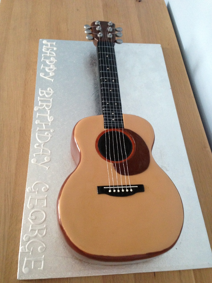 Acoustic Guitar Cake Images : 25+ best ideas about Guitar birthday cakes on Pinterest ...