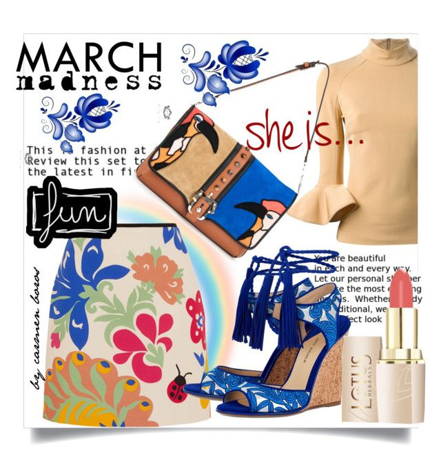 march madness   ... by boroscarmen on Polyvore featuring polyvore, fashion, style, David Koma, Victoria, Victoria Beckham, Paul Andrew, Paula Cademartori and clothing