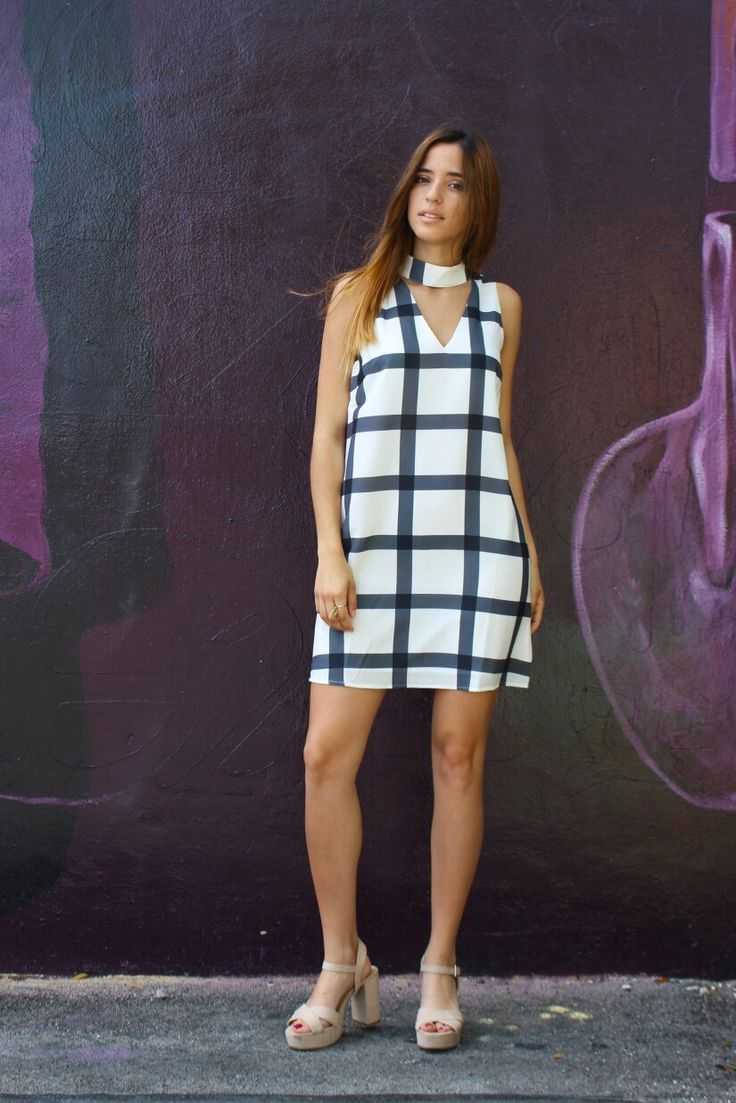 Choker Checker Dress