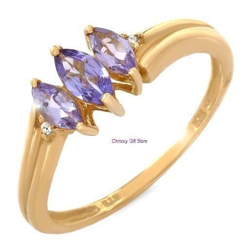 10K Gold Tanzanite Ring | eBay