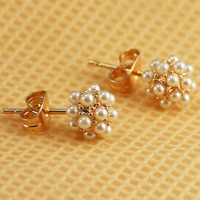 Free Shipping ITALINA Rigant  Fashion Jewelry wholesale  rose gold plated Crystal Imitation Pearl Earrings Gift new arrival
