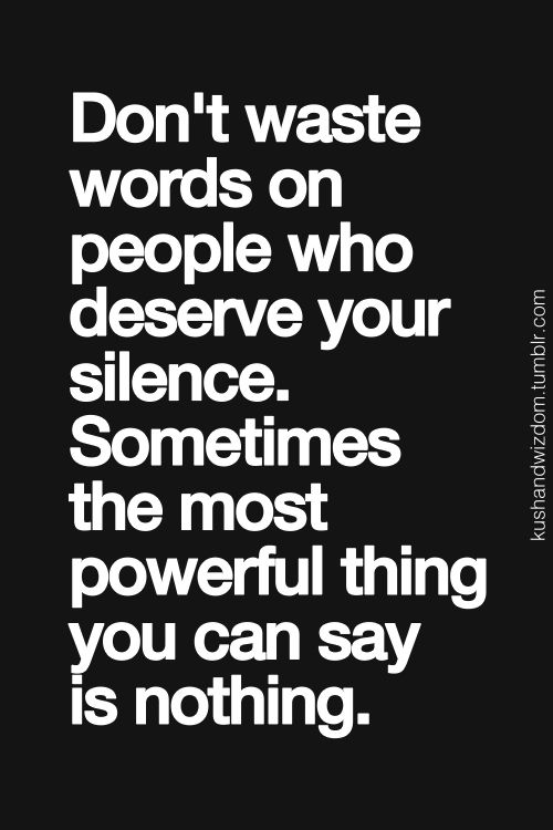 Don't waste words