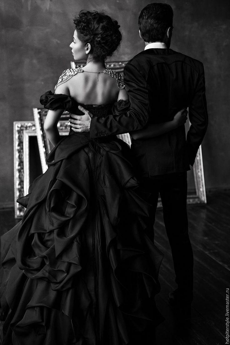 """Купить Платье вечернее """"Анна Каренина"""" в чёрном цвете - платье в пол, платье…"""