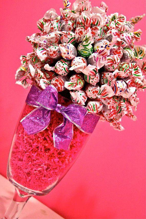Blow Pop Lollipop Sucker Candy Land Centerpiece Vase, Candy Buffet Decor, Candy Arrangement Wedding, Mitzvah, Party Favor, Candy Creation via Etsy