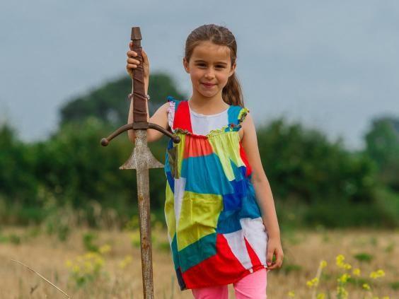 Schoolgirl discovers mystery sword in same lake King Arthur's legendary Excalibur was thrown