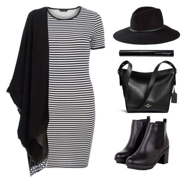 """Wardrobe Staple: T-Shirt Dress"" by felytery ❤ liked on Polyvore featuring mode, Dorothy Perkins, Antonia Zander, Express, Antonym, Coach, ootd en tshirtdress"