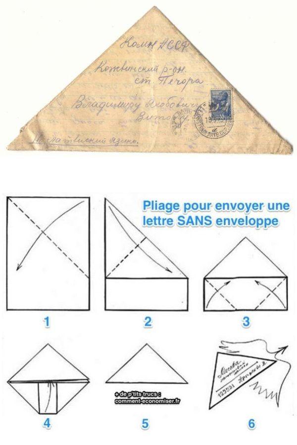 Populaire L'Astuce Pour Envoyer une Lettre Sans Enveloppe. | Enveloppes  GL28