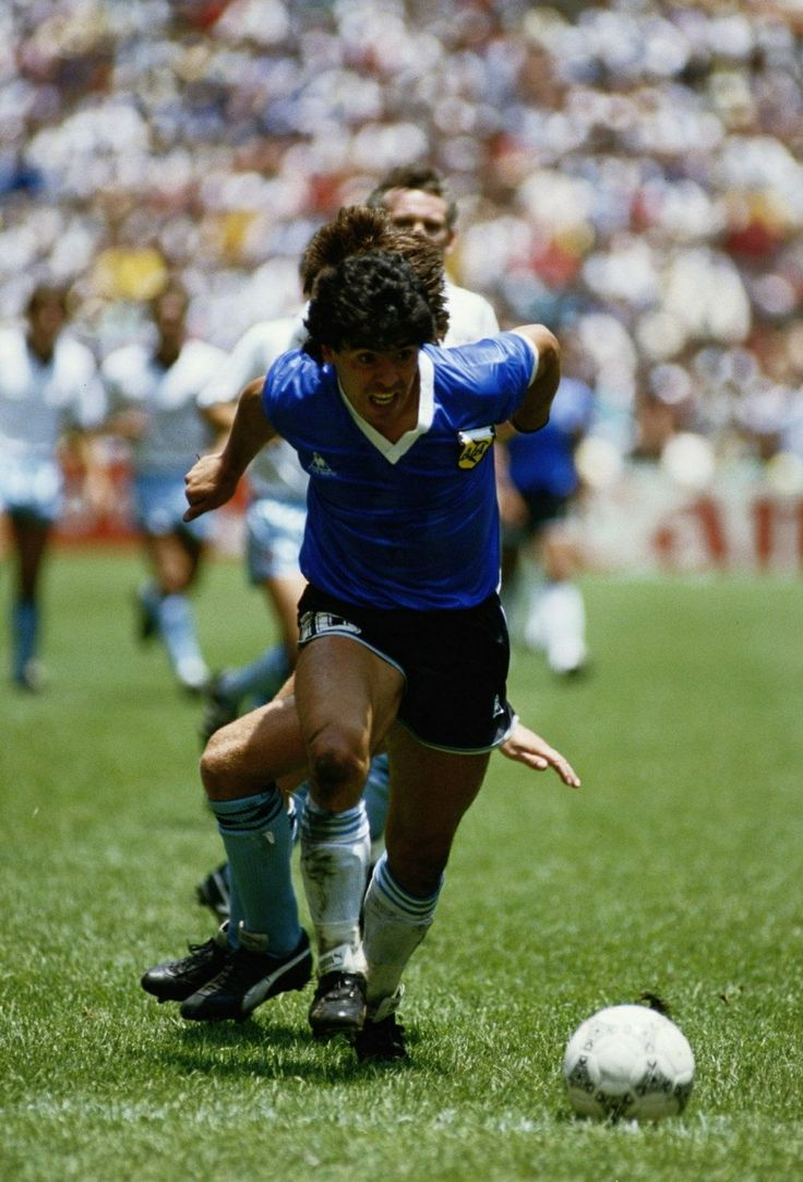 Maradona in action, World Cup '86 v England.