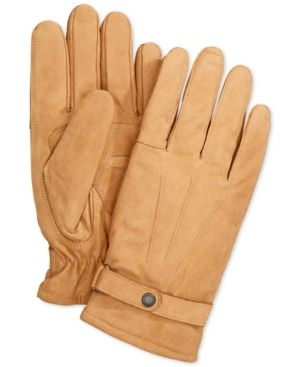 Barbour Leather Thinsulate Gloves - Tan/Beige XL