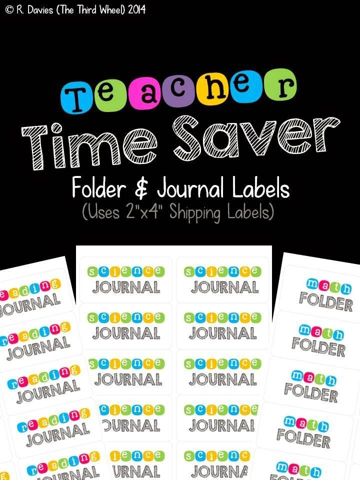 Folder and Journal Labels {free}