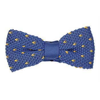Nœud papillon tricot bleu à pois jaunes http://www.dagobear.com/noeud-papillon-tricot-bleu-pois-jaunes-np12.html
