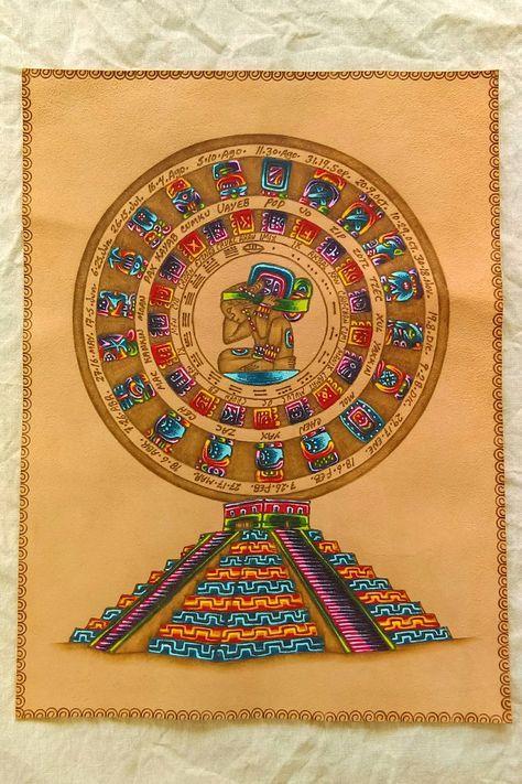 Il Calendario Maya.Calendario Maya Calendario Haab Calendario Tzolkin