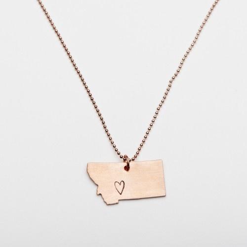 Montana Love Pendant - Copper | Tart