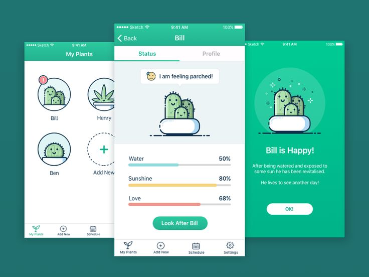 Plant Watering App This app concept uses playful illustrations to help remind yo… – bitcoin