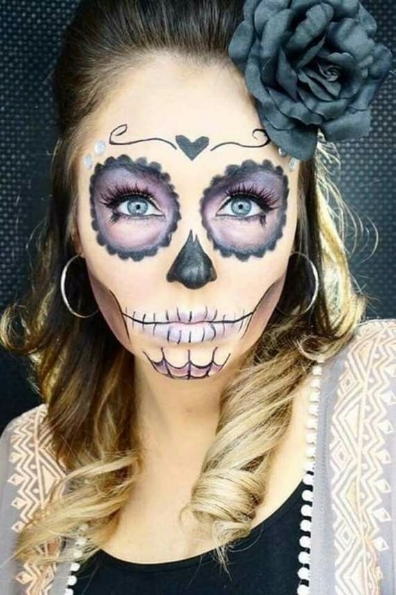 Creative Hairstyles Makeup For Halloween We Want Sweets Now Fall Creativ Halloween Makeup Sugar Skull Halloween Makeup Diy Unique Halloween Makeup