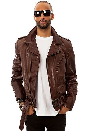The 626 Motorcycle Jacket in Antique Brown Leather by Schott NYC... Perfection. I'd trade all my jackets for this one.
