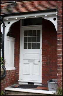 Canopies, Door Entrances Porches - Georgian stone pediments, Victorian edwardian porches