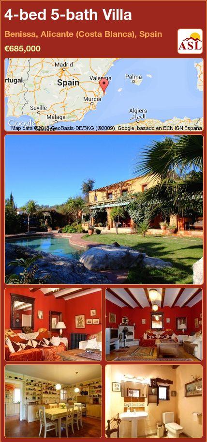 4-bed 5-bath Villa in Benissa, Alicante (Costa Blanca), Spain ►€685,000 #PropertyForSaleInSpain