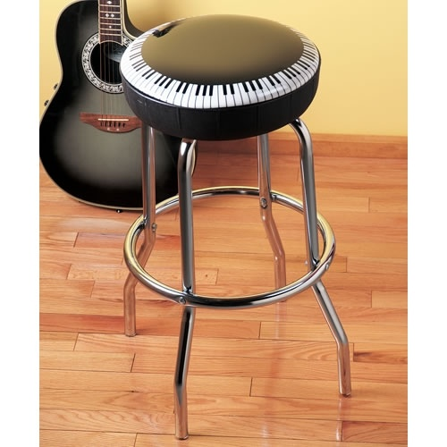Ebony And Ivory Barstool At The Music Stand