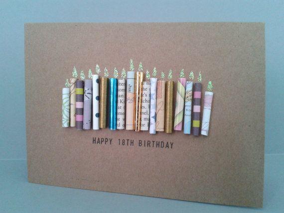 Glücklich 18. Geburtstag Kerze Karte personalisiert von GurdGifts