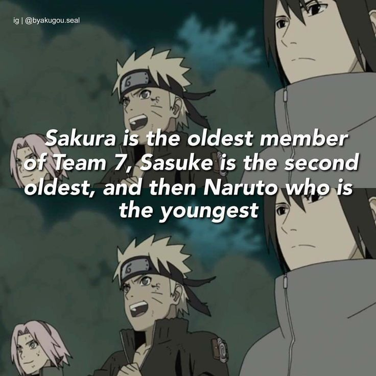 Haha Poor Naruto Is Ignored Again By Sakura: Haha :)) Sakura Is The Oldest One In Team 7 ♥♥♥ Then