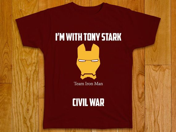 Civil War Marvel T-shirt  Team Iron Man by GeeksDragons on Etsy