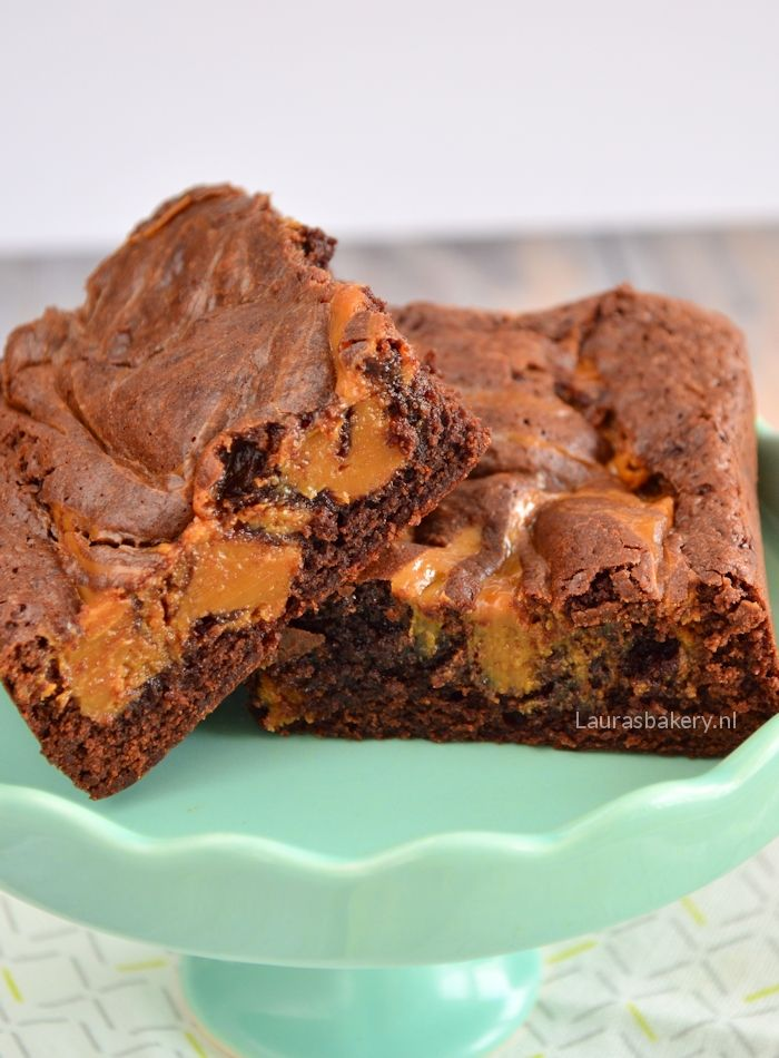 karamel brownies