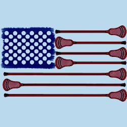 www.YouGotThat.net www.facebook.com/YouGotThat Love this!!! American flag made out of lacrosse sticks!!!