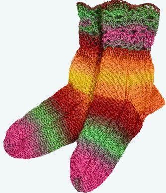 Multicolor  socks lovely warm unique by DosiakStyle on Etsy