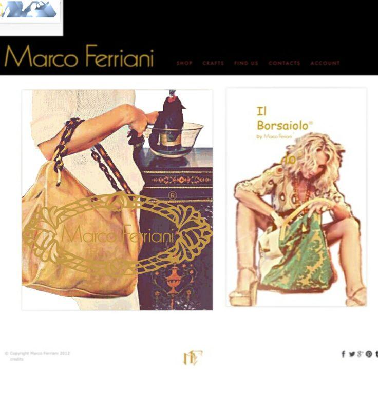 """New collections Spring Summer 2014 Marco Ferriani """"Il Borsaiolo"""" Bologna, ITALY. www.marcoferrianiborse.net"""