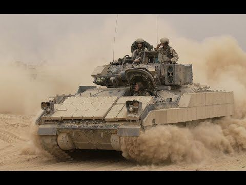 US Army M2A3 Bradley Firing an Incredible Amount of TOW Missiles